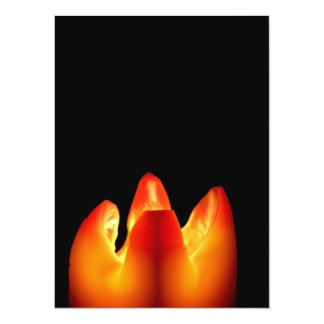 Autumn Candle Glow Card