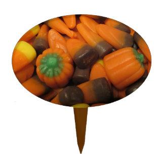 Autumn Candy Corn Cake Topper