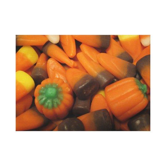 Autumn Candy Corn Canvas