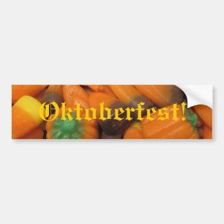"""Autumn Candy Corn """"Oktoberfest!"""" Bumper Sticker Car Bumper Sticker"""