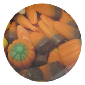Autumn Candy Corn Plate
