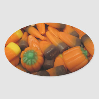 Autumn Candy Corn Stickers - Set of 20
