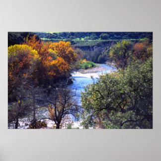 Autumn, Carmel Valley River, California Print