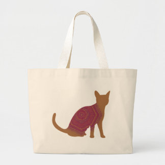 Autumn cat canvas bag