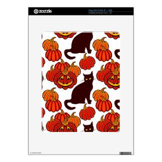 Autumn cat iPad decal