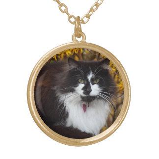 Autumn cat necklace