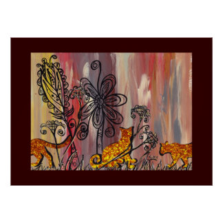 Autumn Cats 2 Print