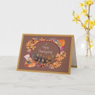 Autumn Celebration Thanksgiving Greeting Card