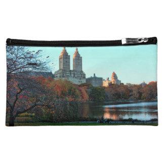 Autumn: Central Park Lake, San Remo Cosmetic Bag