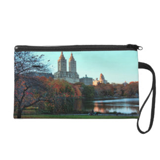 Autumn: Central Park Lake, San Remo Wristlets