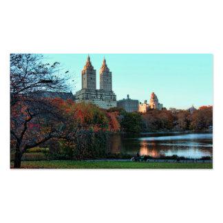 Autumn Central Park Lake San Remo Business Card
