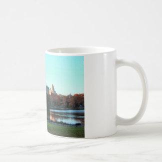 Autumn: Central Park Lake, San Remo Classic White Coffee Mug