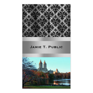 Autumn: Central Park Lake, San Remo Double-Sided Standard Business Cards (Pack Of 100)