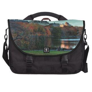 Autumn: Central Park Lake, San Remo Laptop Messenger Bag