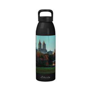 Autumn: Central Park Lake, San Remo Reusable Water Bottles