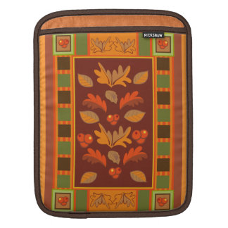 Autumn Cheer, decorative Fall iPad sleeve