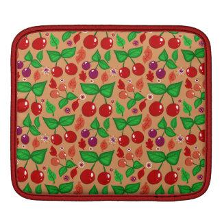 Autumn Cherries Pattern iPad Sleeve