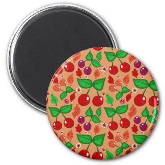 Autumn Cherries Pattern Magnets