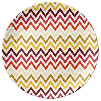 Autumn Chevron Pattern Plate