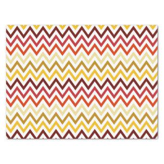 Autumn Chevron Pattern Tissue Paper