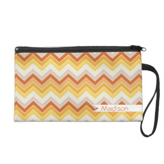 Autumn {chevron pattern} wristlet purse