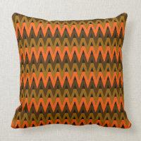 Autumn Chevrons Throw Pillows