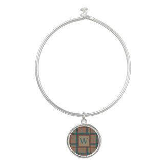 Autumn Chic Plaid Bangle Bracelet