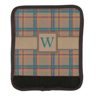 Autumn Chic Plaid Luggage Handle Wrap