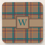 Autumn Chic Plaid Square Coaster
