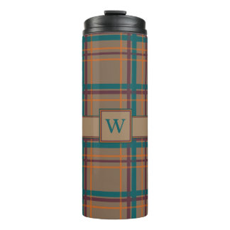 Autumn Chic Plaid Thermal Tumbler