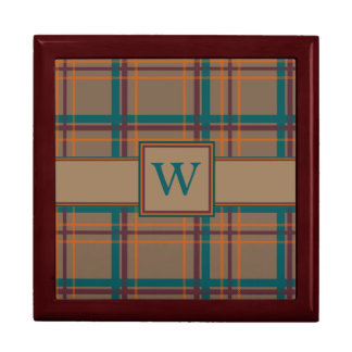 Autumn Chic Plaid Tile Box