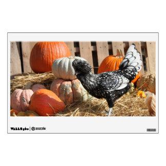 Autumn Chicken Wall Decal