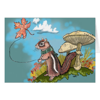 Autumn Chipmunk~ Greeting Cards
