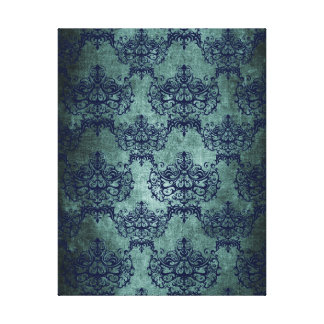 autumn+christmas,cobalt+royal+blue,toile+floral+pa canvas print