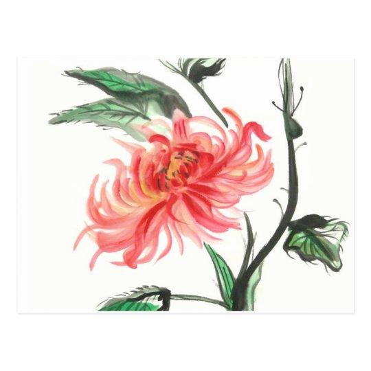 Autumn Chrysanthemum Postcard