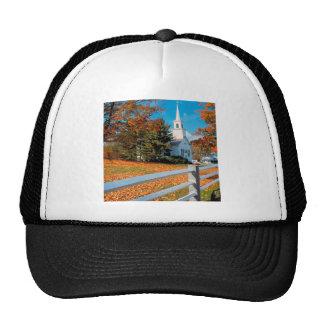 Autumn Church In Splendor New England Trucker Hat