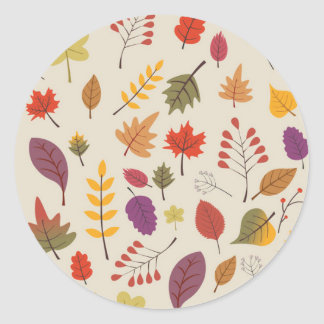 Autumn Classic Round Sticker