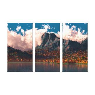 Autumn Cliffs (Triptych) Canvas Print