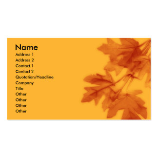 Autumn Cluster Business Card