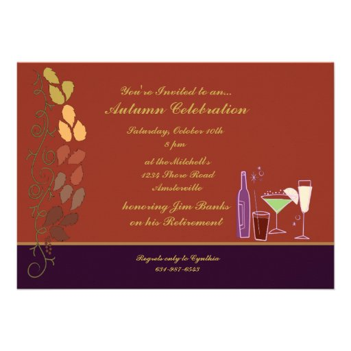 Autumn Cocktails Invitation