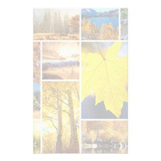 Autumn collage stationery design