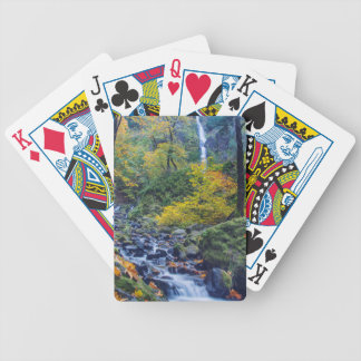 Autumn Color Along Starvation Creek Falls 2 Bicycle Playing Cards