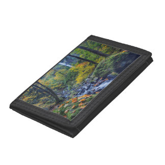 Autumn Color Along Starvation Creek Falls 2 Tri-fold Wallets