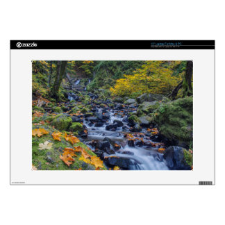 """Autumn Color Along Starvation Creek Falls Decal For 15"""" Laptop"""