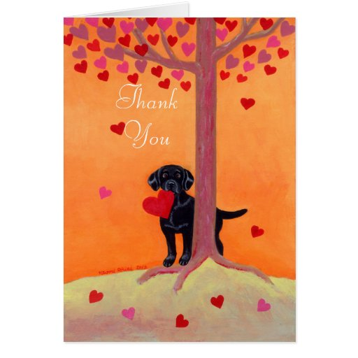 Autumn Color Black Labrador Card