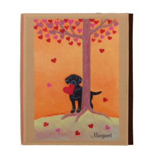 Autumn Color Black Labrador iPad Cases
