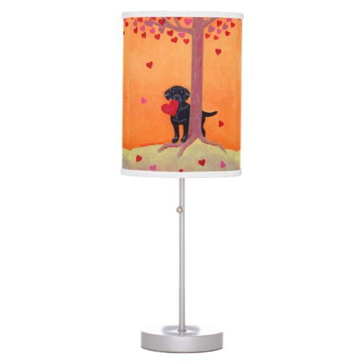 Autumn Color Black Labrador Desk Lamp