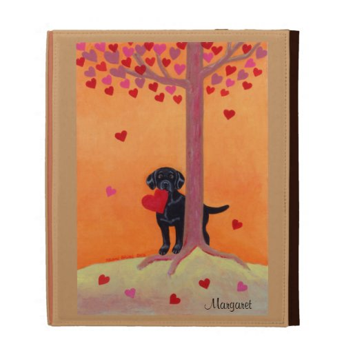 Autumn Color Black Labrador iPad Cases
