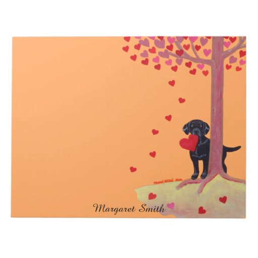 Autumn Color Black Labrador Notepad