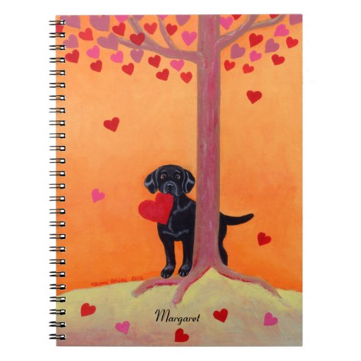 Autumn Color Black Labrador Spiral Notebook